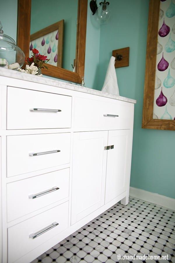 Bathroom Vanity Extended Over Toilet: Bathroom Redo {lemons Into Lemonade And No More Beer Cans