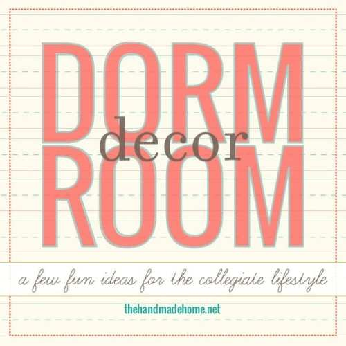 dorm room decor : easy lampshades + pillows