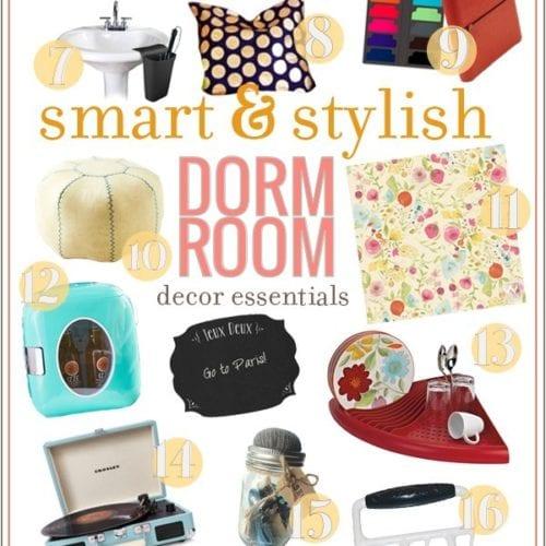 smart and stylish dorm room decor essentials