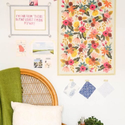 dorm room decor :  easy gallery wall