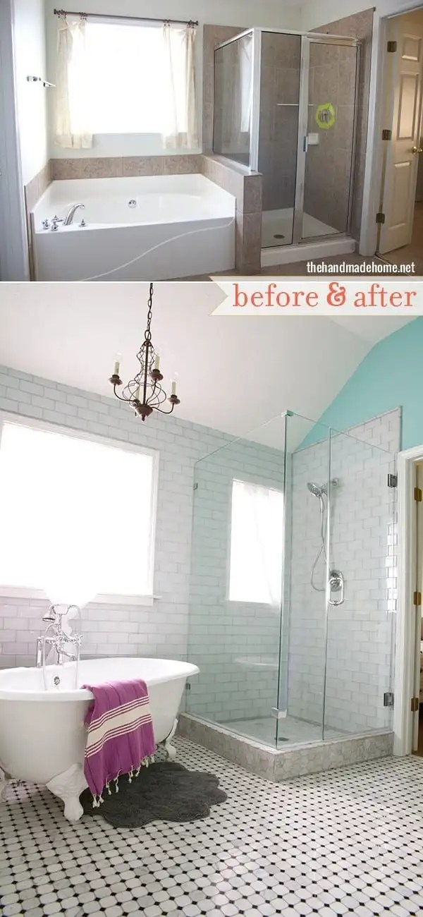 before and after bathroom makeover