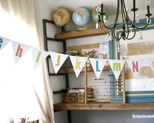 free alphabet {and numbers} bunting