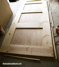 how to build a barn door - the handmade home