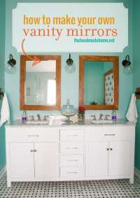 make your own vanity mirrors - The Handmade Home