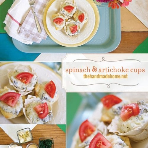 spinach and artichoke cups