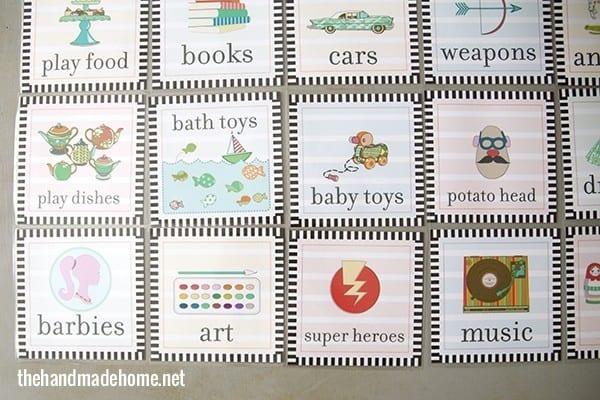toy organization labels free