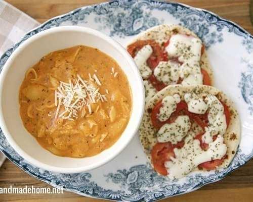chicken lasagna soup