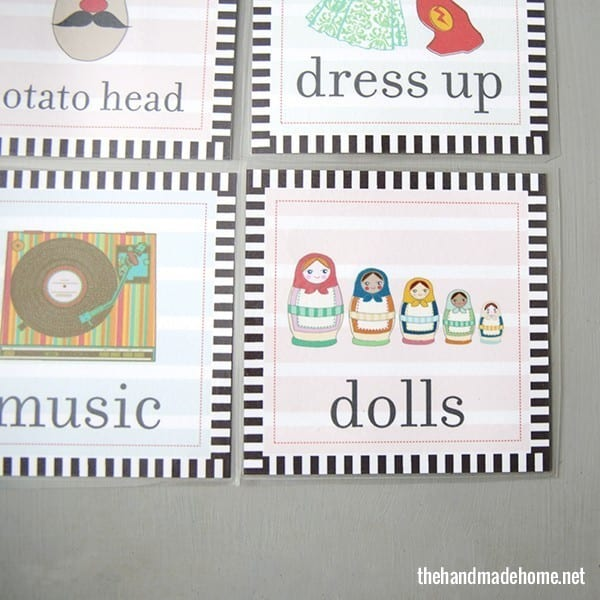 toy organization labels doll