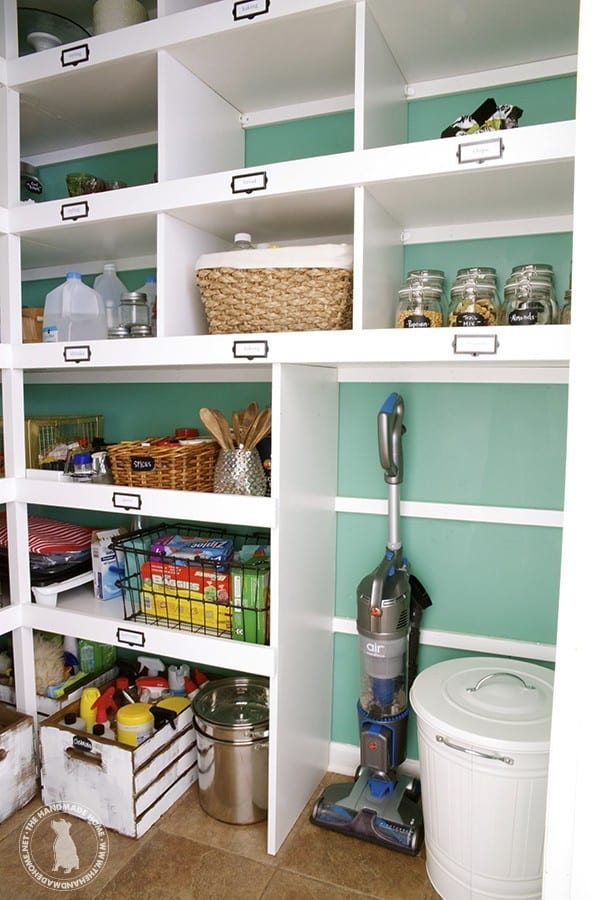 how to build custom pantry shelves