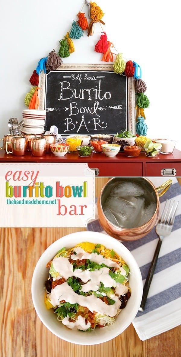 easy burrito bowl bar