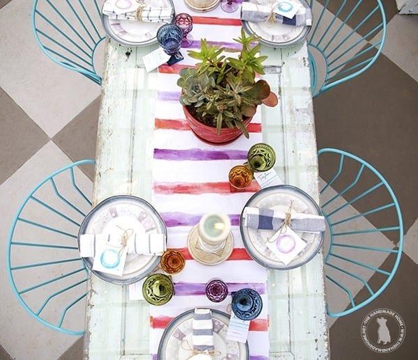 diy_watercolor_table_runner