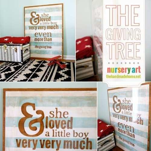 little boy nursery art {the giving tree}