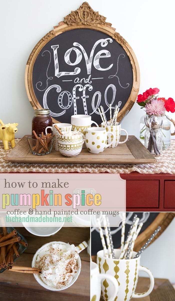 how_to_make_pumpkin_spice_coffee_and_hand_painted_offee_mugs