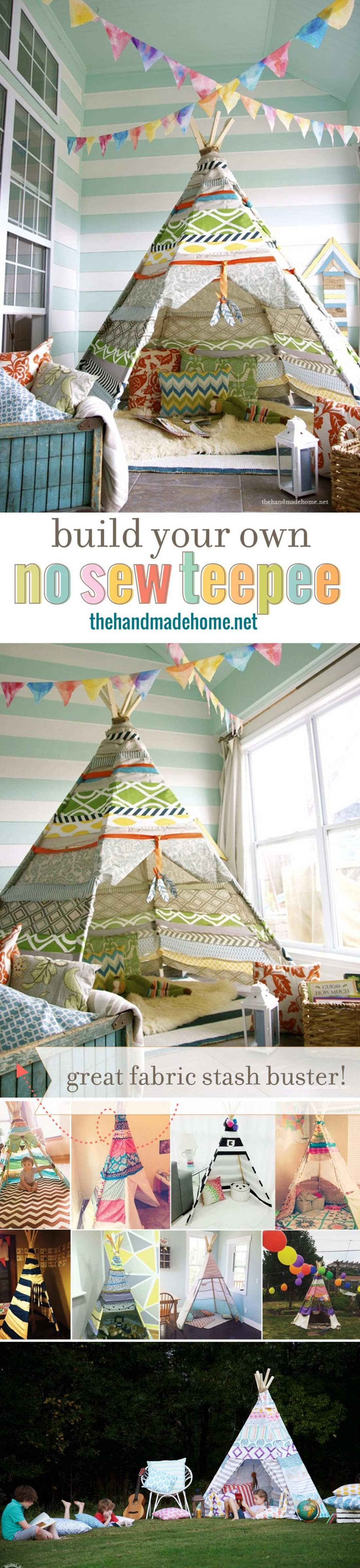 build a kids teepee