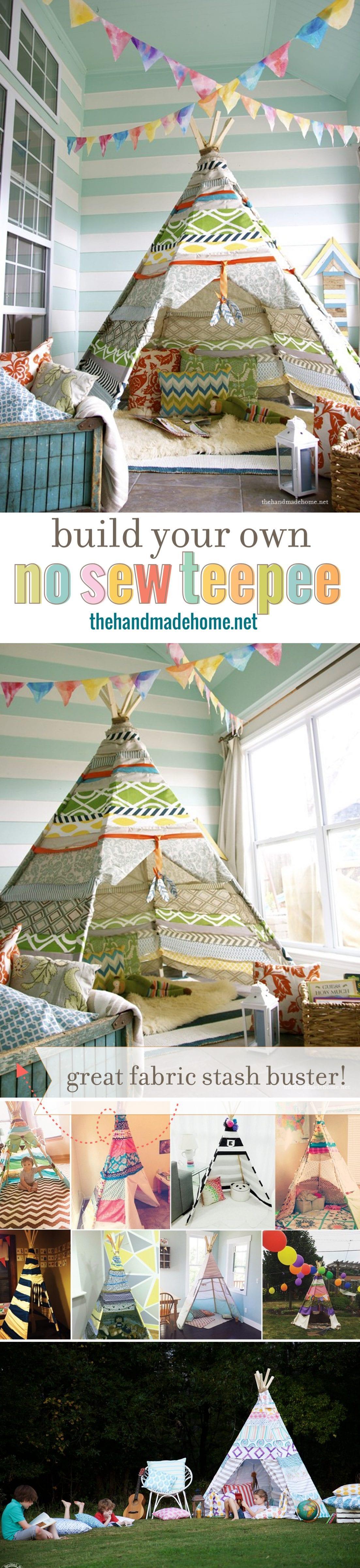 build a kids teepee