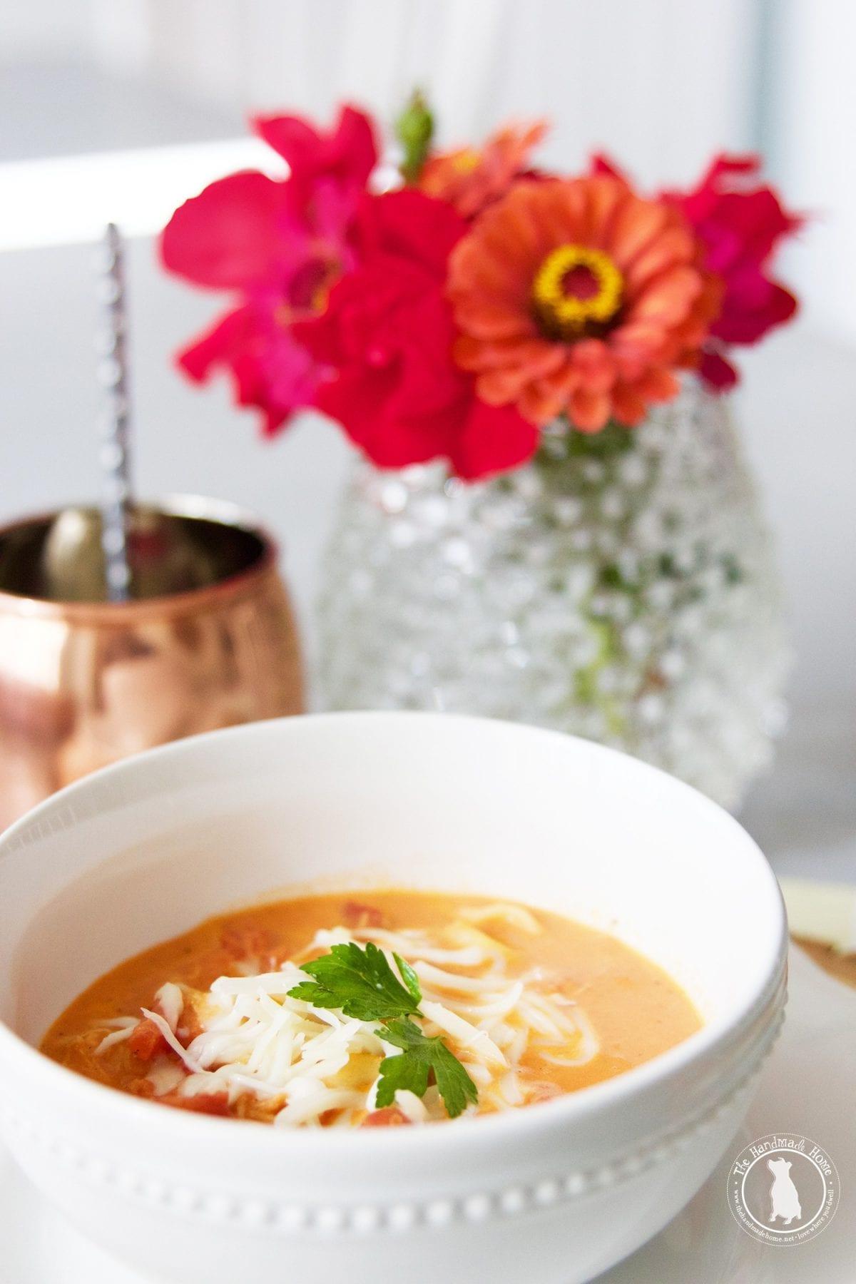 Tomato Chicken Tortellini Soup Recipe