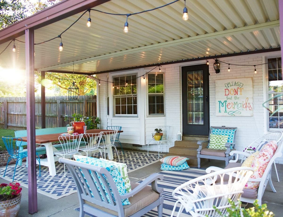 tips for creating an outdoor space - back porch makeover