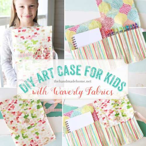 diy art case with waverly fabrics
