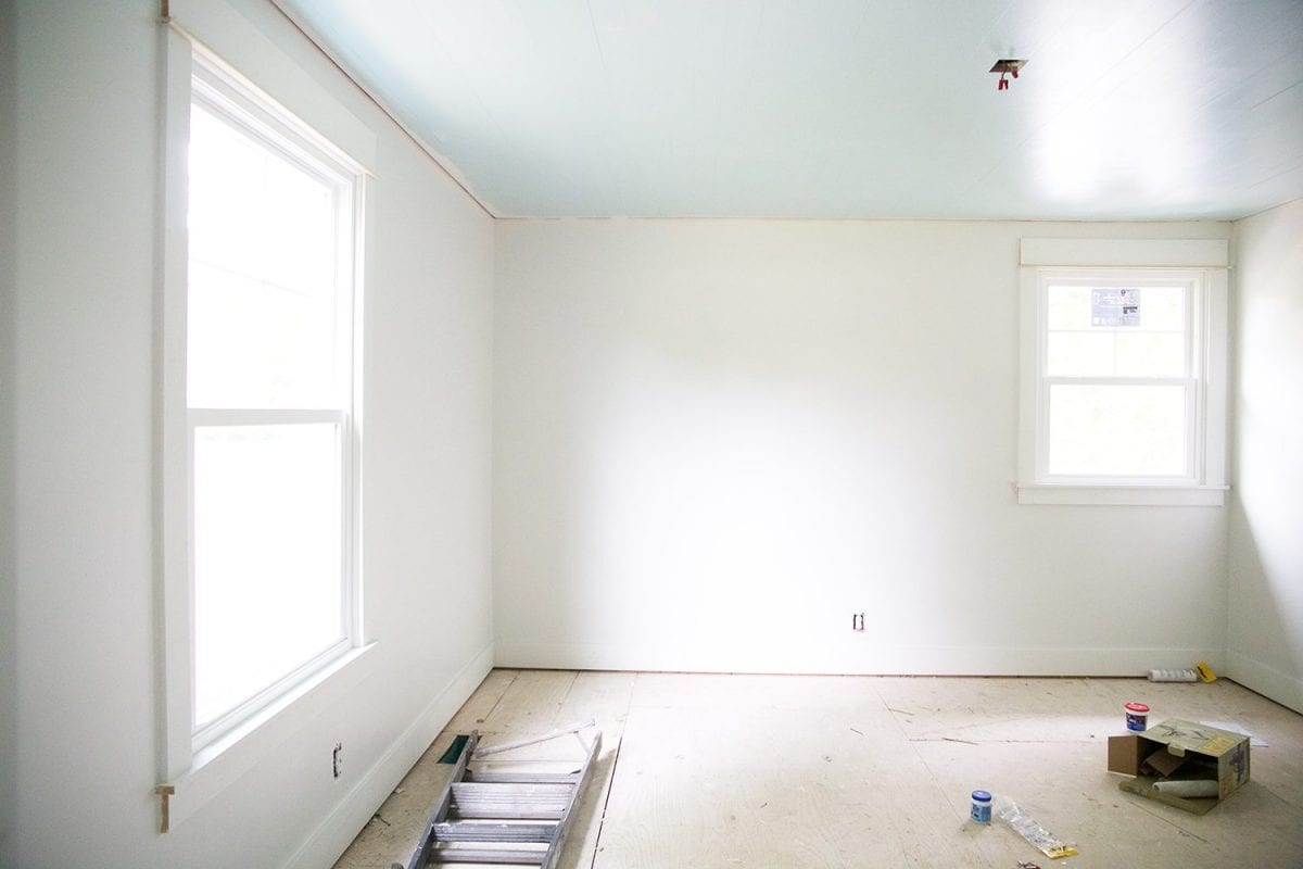 how to shiplap your ceilings - white and bright