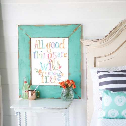 all good things are wild and free – free print