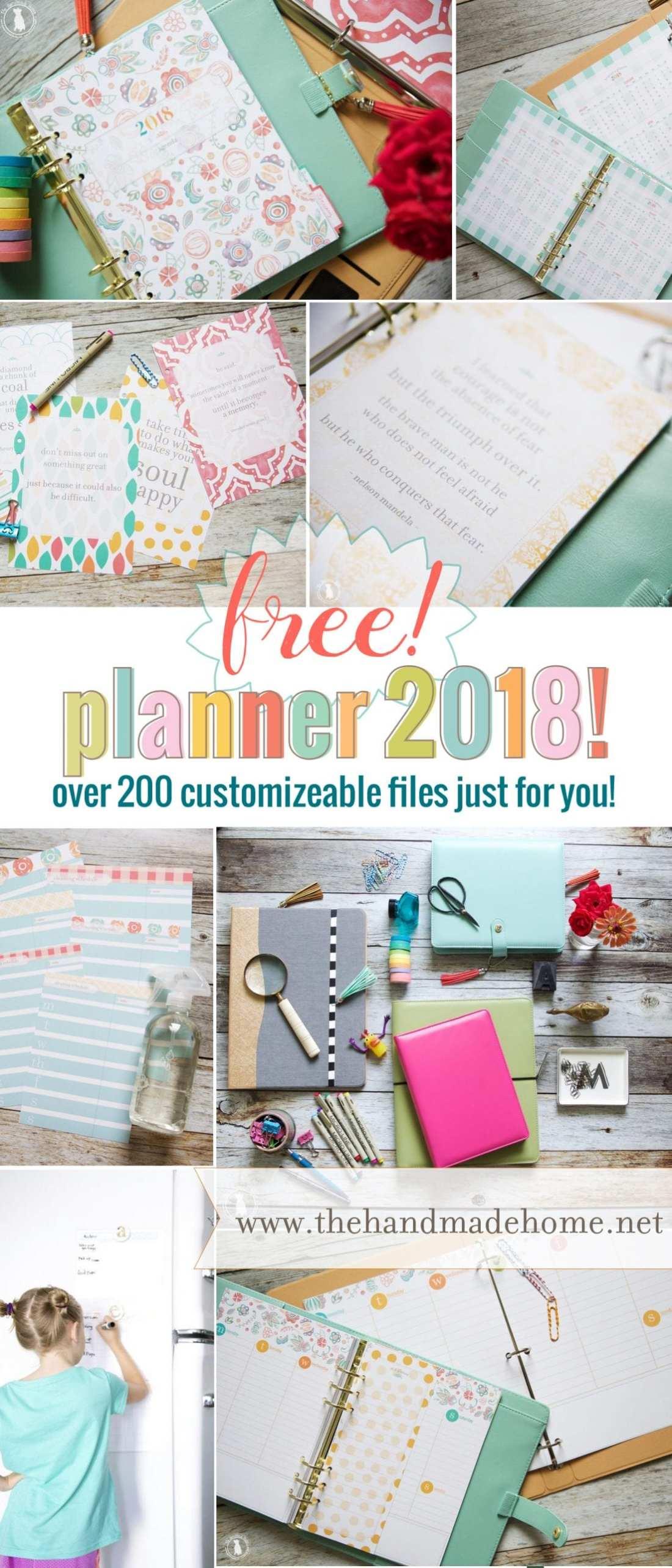 free planner 2018