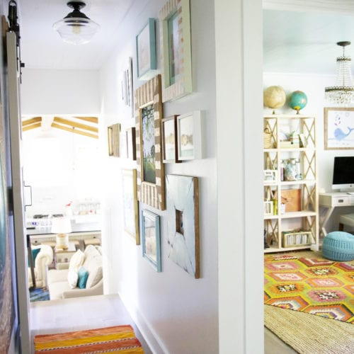 tips and tricks for a gallery wall {in a tight space!}
