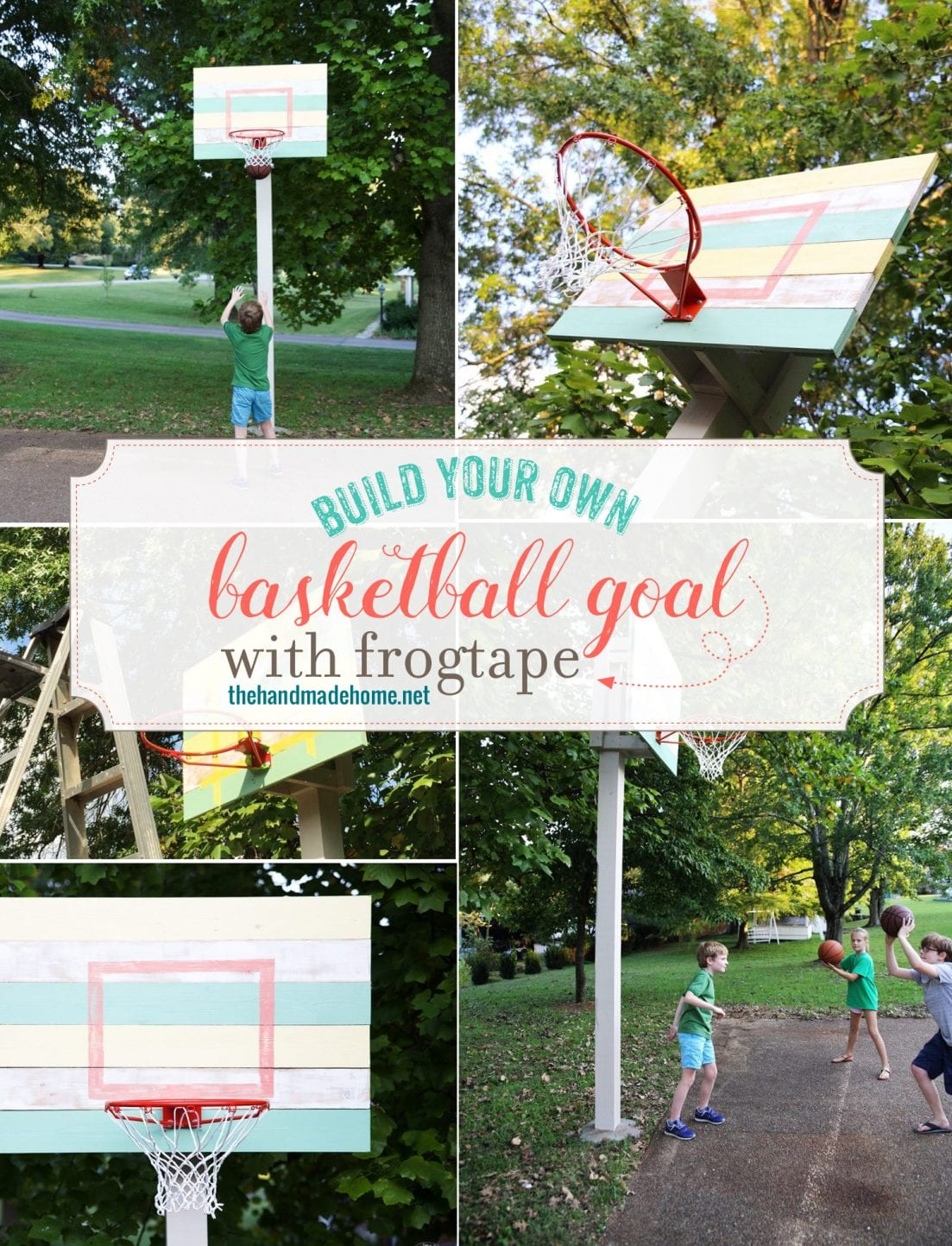 how to build a basketball goal - a simple easy tutorial