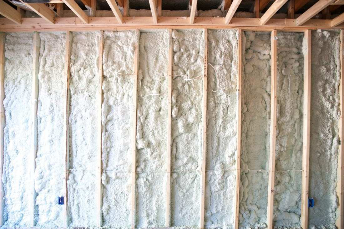 how to use spray insulation - finished out basement