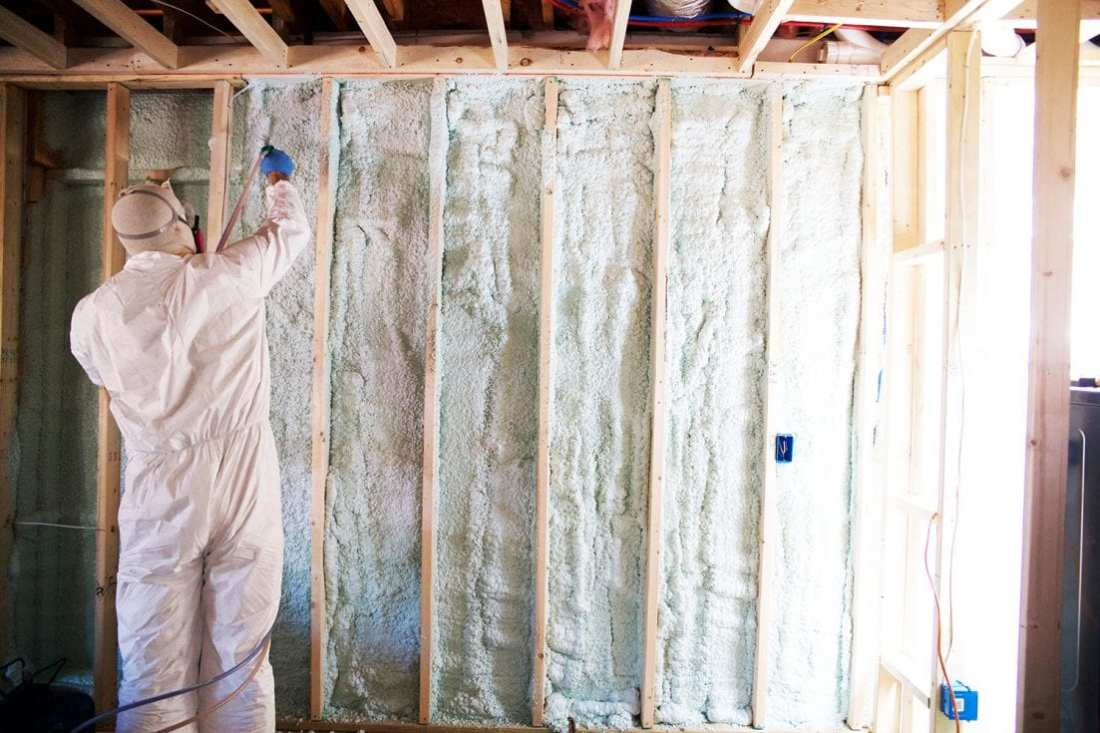 how to use spray insulation - applying 2nd and 3rd coats