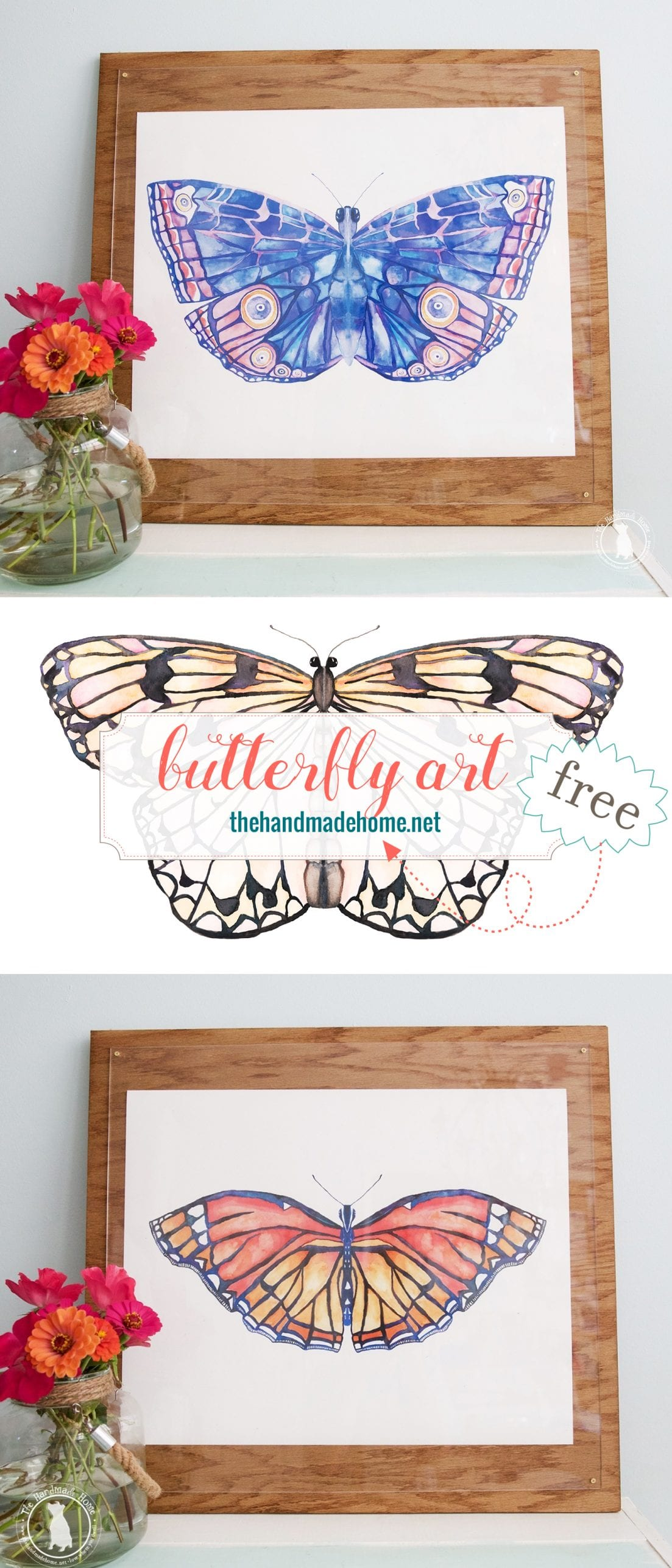 free butterfly art - free printables