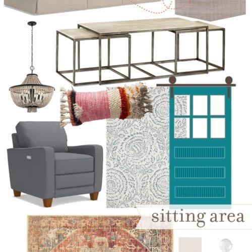basement progress – sitting area design plans