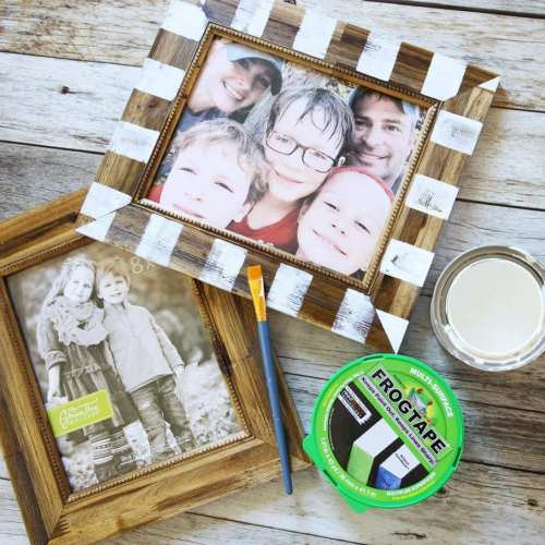 the perfect way to spruce up a frame with frogtape {and talk of the town!}