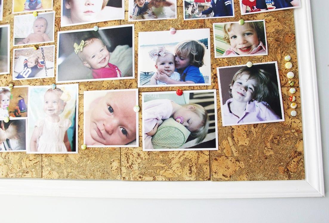 make your own photo corkboard