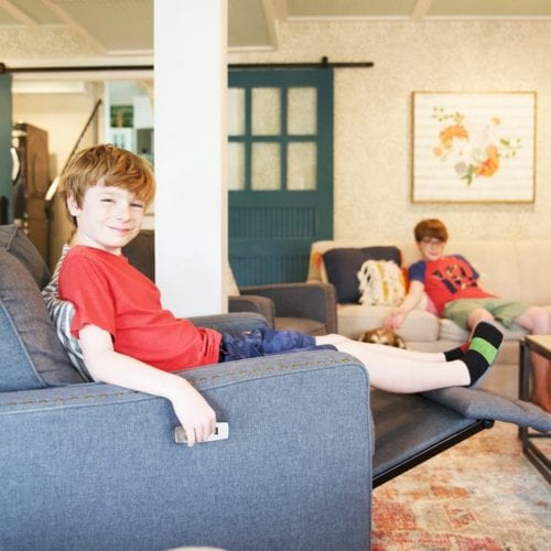 choosing furniture: basement details