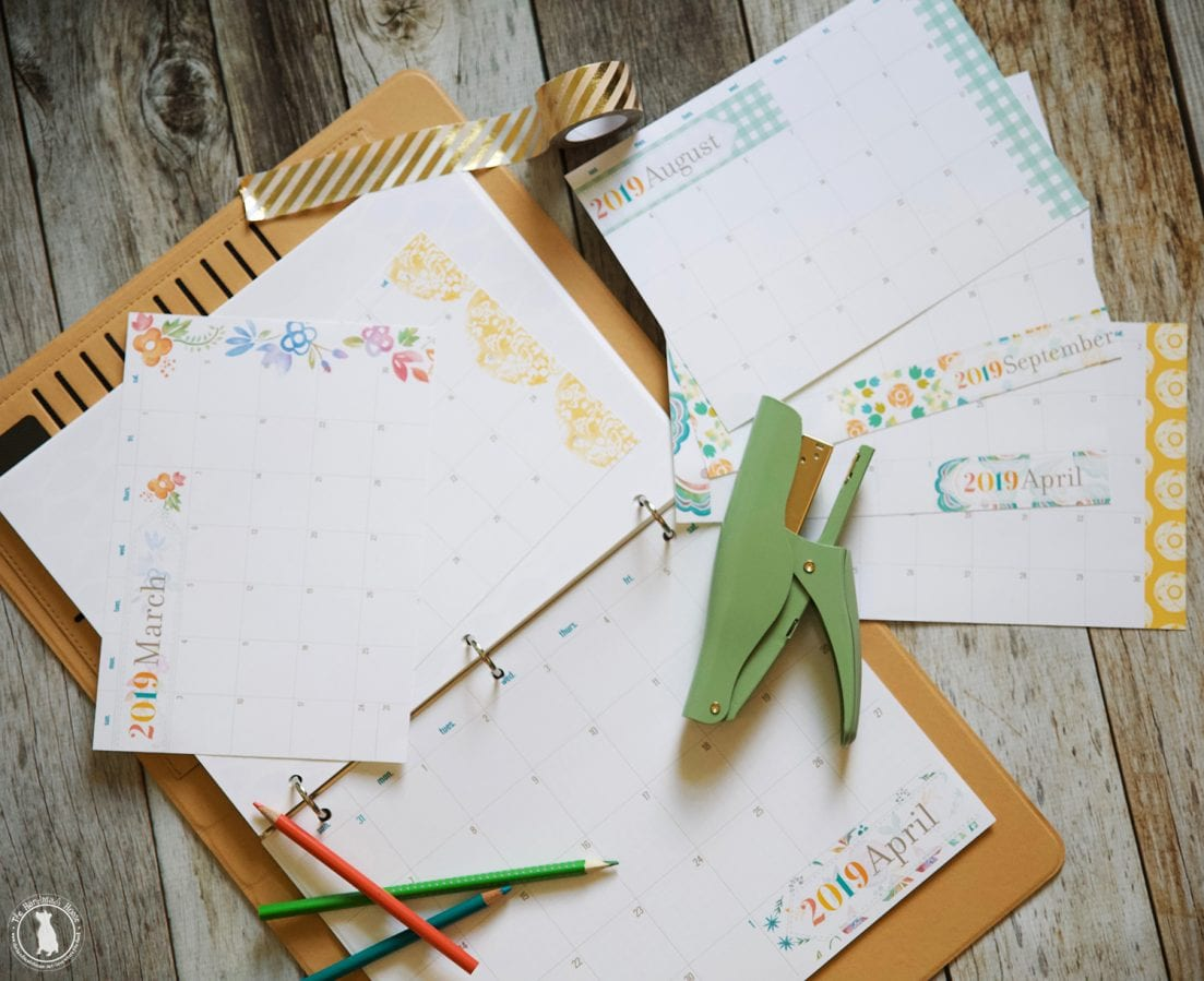 graphic regarding Free A5 Planner Printables known as No cost Planner 2019 - In excess of 350 Customizable cost-free documents - a