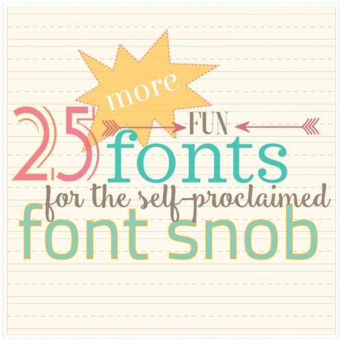 the font snob club {july 2018}