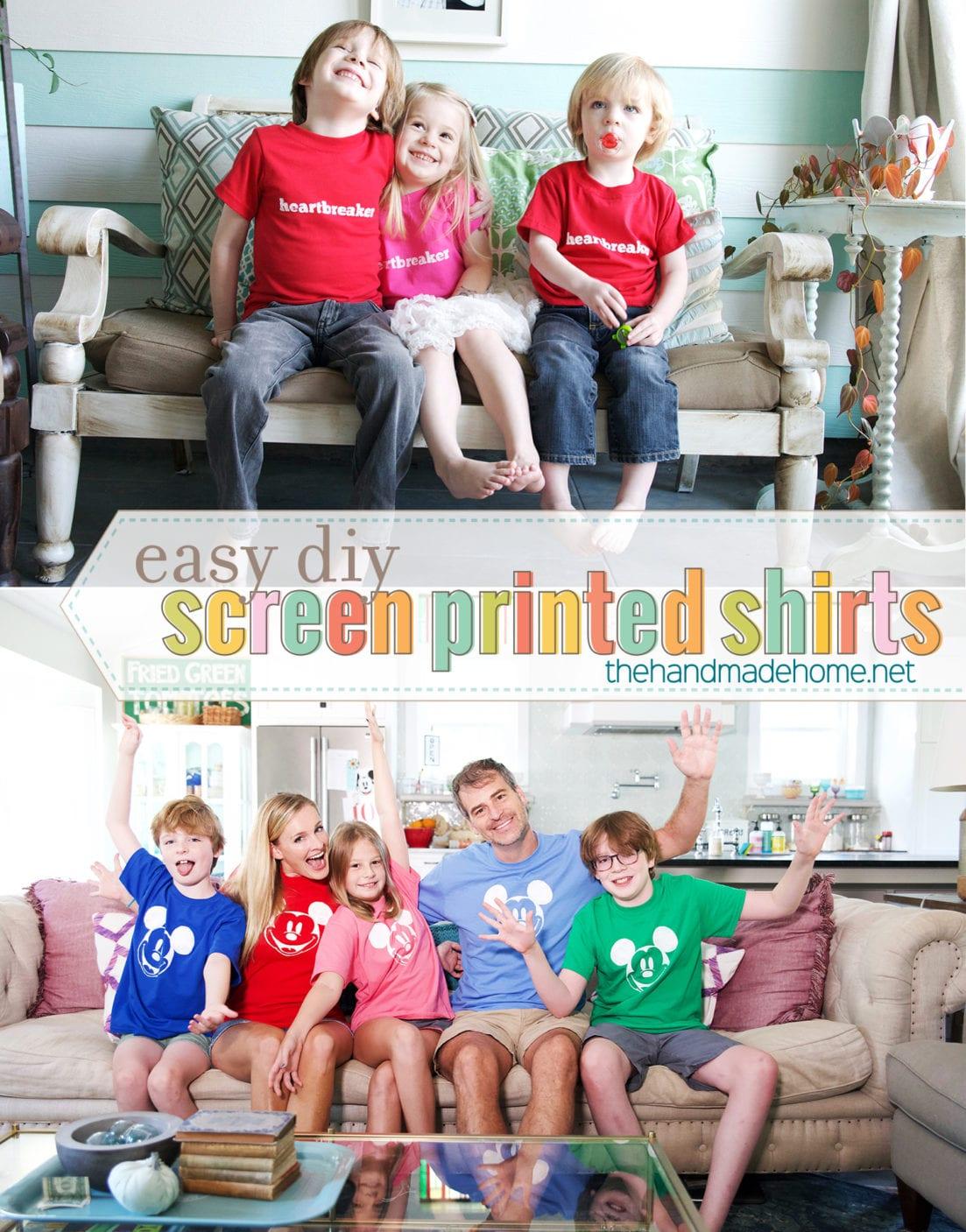 easy diy screen printed tees