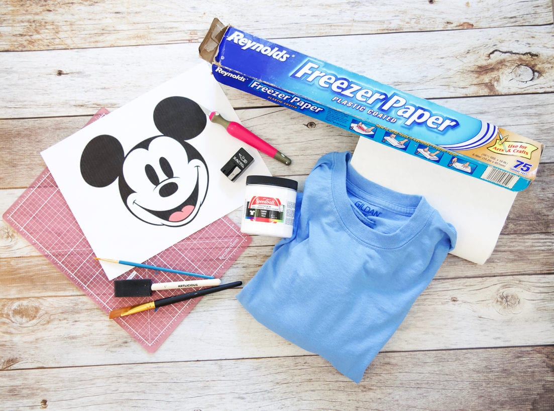 disney diy screen printed tees