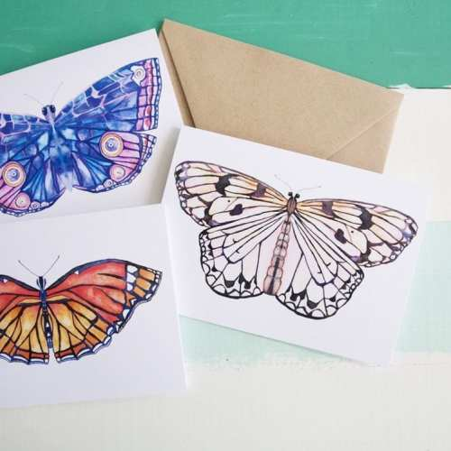 free printable butterfly stationery