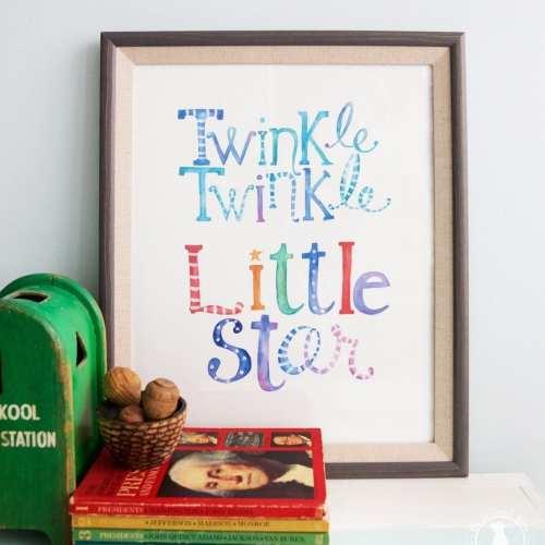 twinkle twinkle little star freebie
