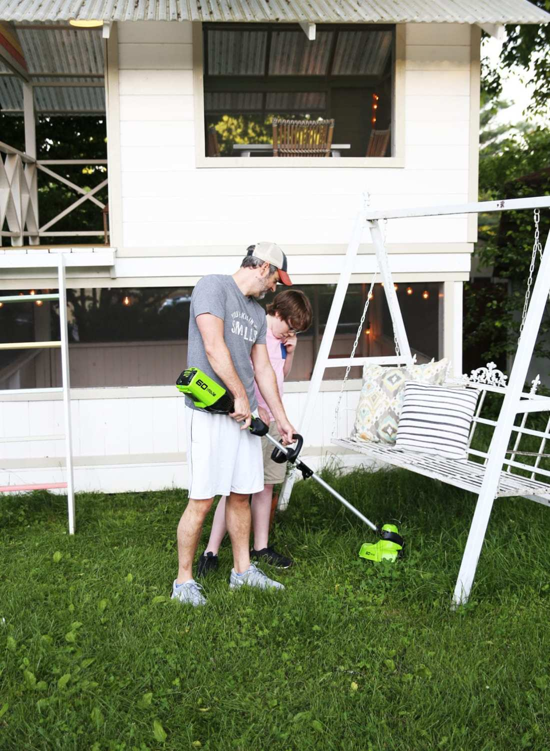 getting kids to pitch in with yardwork