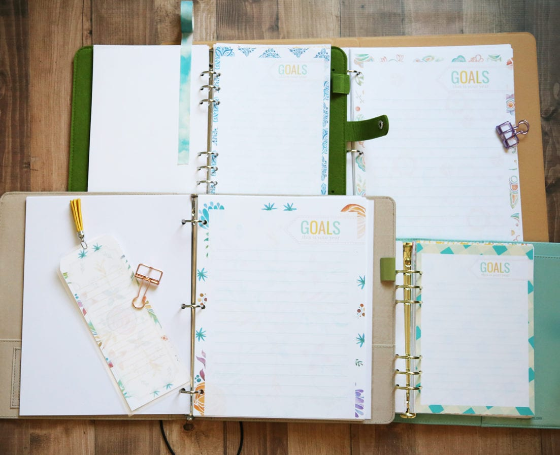 planner insert pages