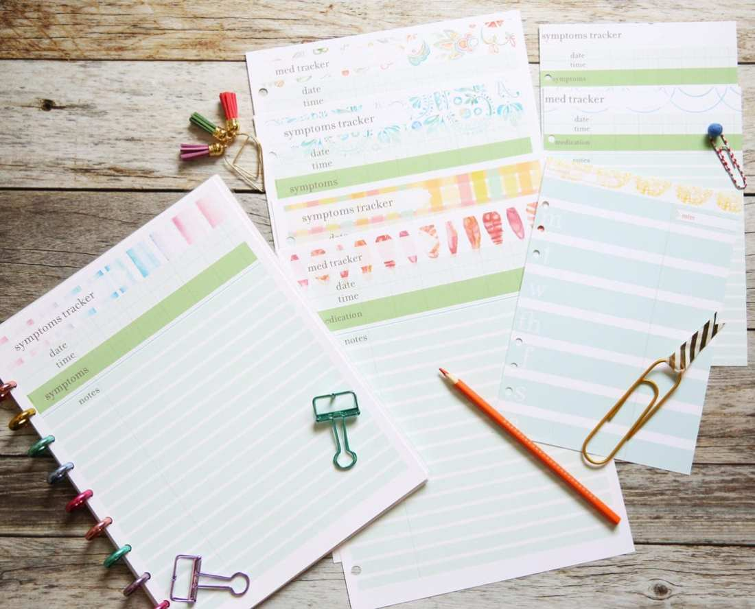 planner medical inserts