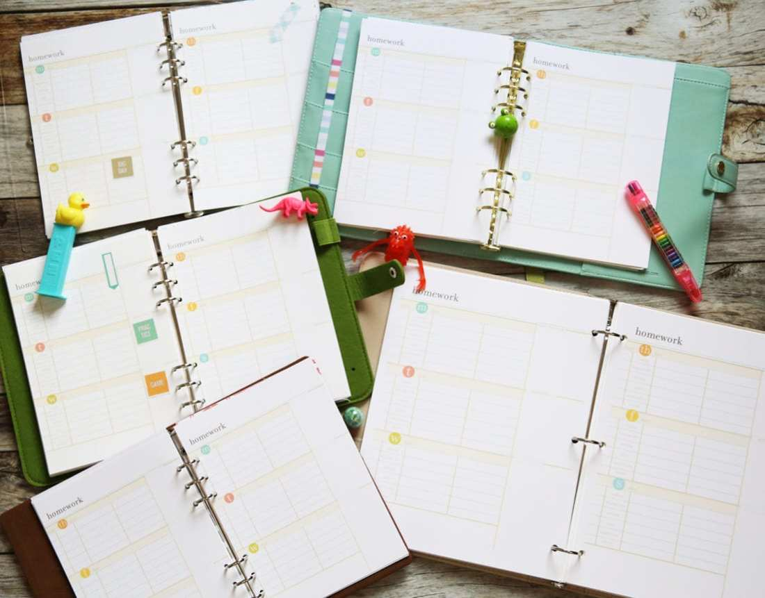 planner inspiration inserts