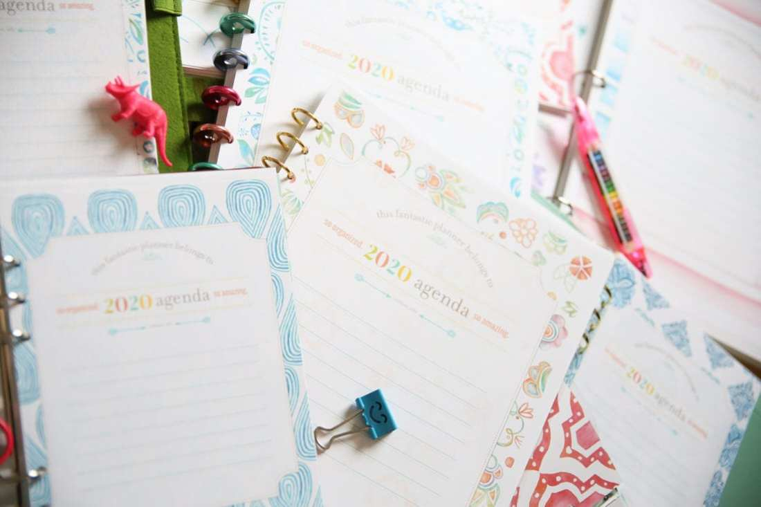 2020 free planner cover pages