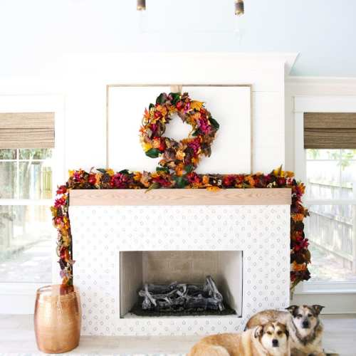 fall mantel with balsam hill
