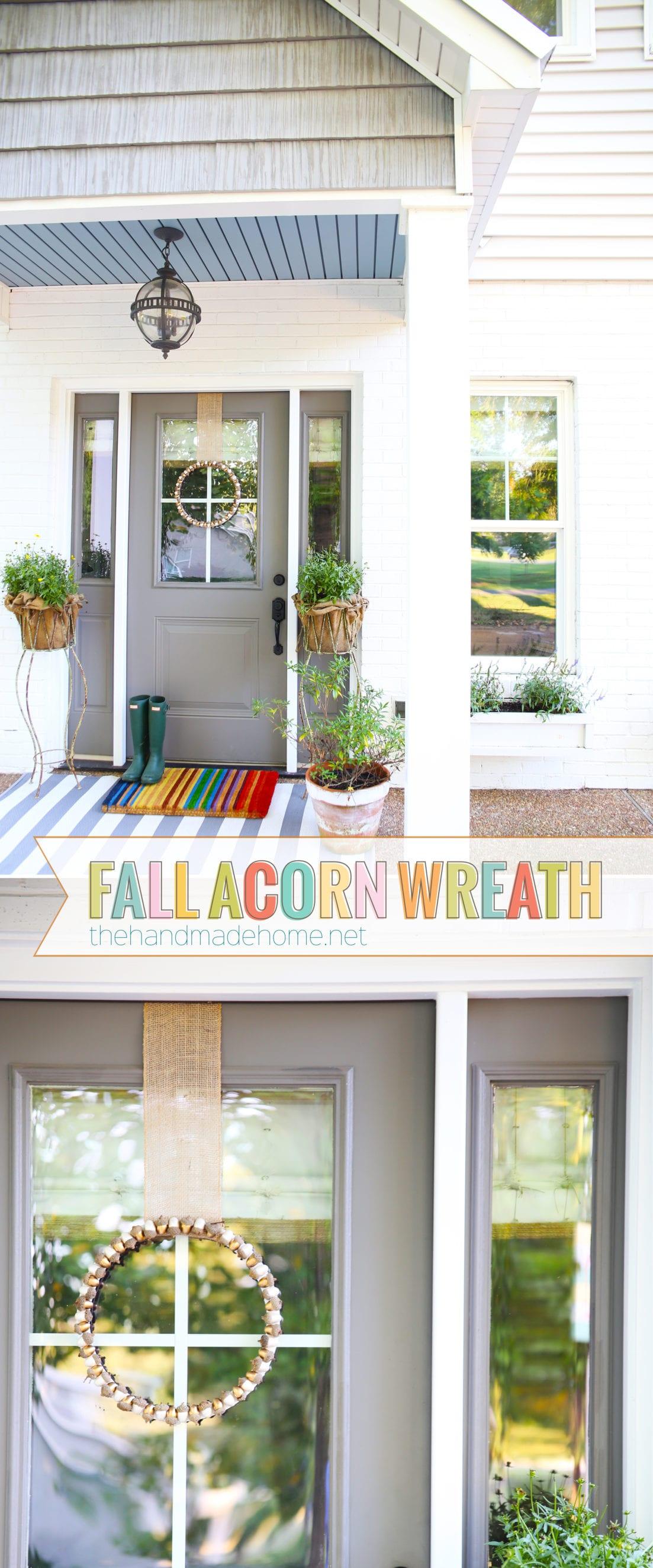 diy fall acorn wreath