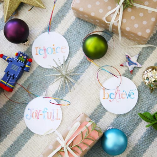 handmade ornaments from free printables