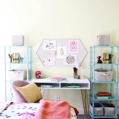 girls room makeover: simple elements for a big impact