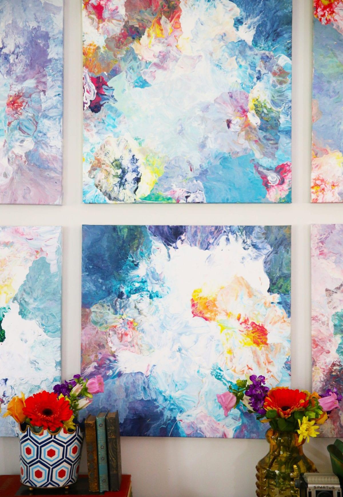 Easy Abstract Art The Handmade Home